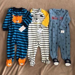 Carter's Baby Boys Pajamas - Lot Of 3